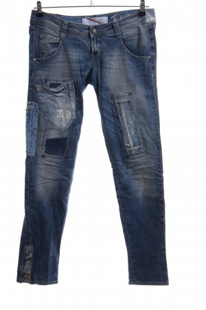 Met in Jeans Slim Jeans blau Casual-Look