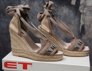 MET in Shoes ~ ITALY SANDALEN WEDGES ESPADRILLES ~ SIZE 36