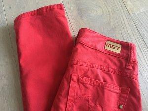 Met in Jeans Vaquero pitillo rojo