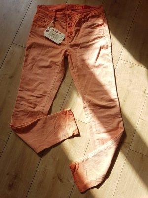 MET Jeans Melissa Röhrenjeans Stretchjeans Hüftjeans Orange flame scarlet 29 L32