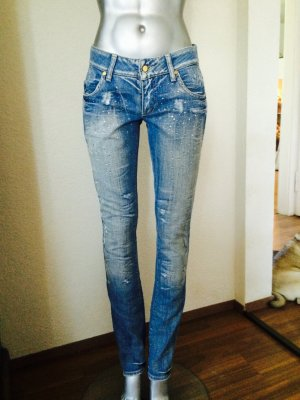 MET Jeans mit Strassverzierungen Gr. 28