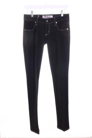 MET Jeans schwarz-beige Casual-Look