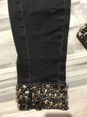MET Jeans - wie neu 299€ schwarz Strass Gr 31-Mega red.letzter Preis
