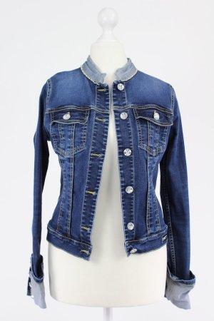 Met Jeansjacke mit Steinchen blau Größe S