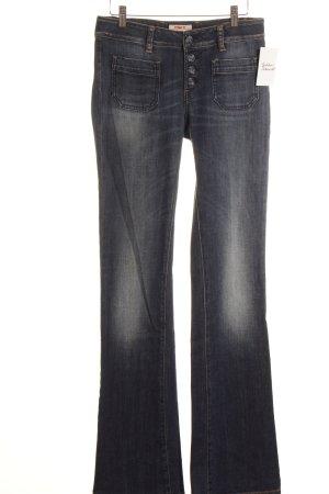 MET Jeansschlaghose stahlblau Retro-Look