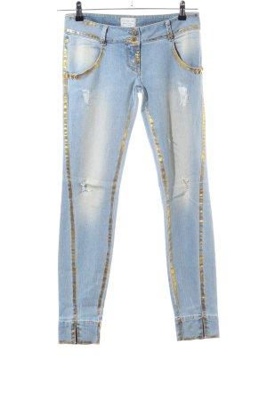 MET Jeans a carota blu-oro stile casual
