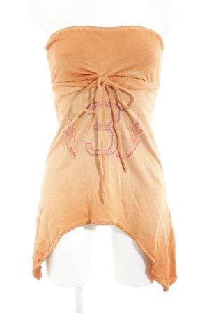MET Top lungo arancione scuro-arancione chiaro stile da moda di strada