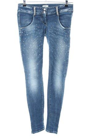 MET Skinny Jeans blau Street-Fashion-Look