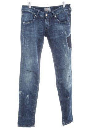 MET Skinny Jeans blau-dunkelblau Destroy-Optik