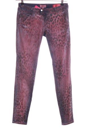 MET Skinny Jeans lila Leomuster Casual-Look