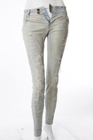MET Skinny Jeans gepunktet mit Glitzer