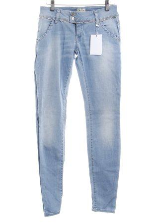 MET Skinny Jeans hellblau-silberfarben Casual-Look