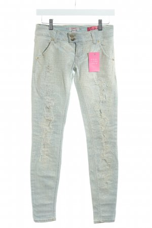 MET Skinny Jeans himmelblau-hellgelb extravaganter Stil