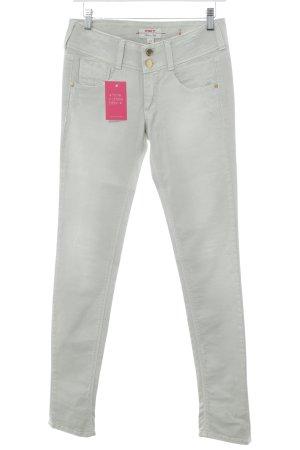 MET Slim Jeans blassgrün Used-Optik