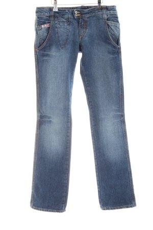 MET Straight-Leg Jeans blau Casual-Look