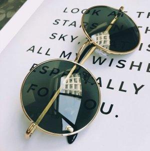 Occhiale nero-oro