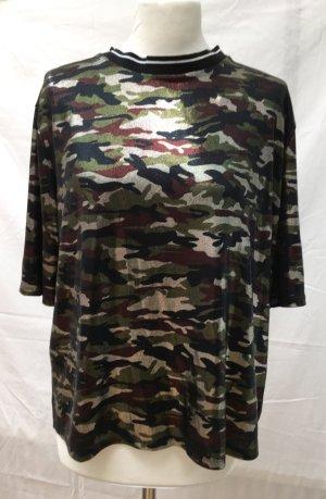 Metalic Camouflage Oversize Top