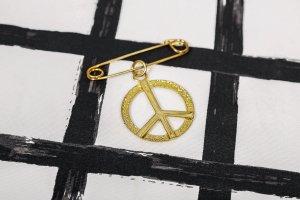 Metall Brosche Peace