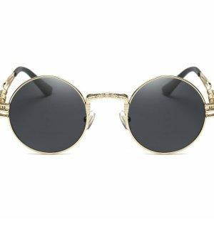 Glasses black-sand brown metal