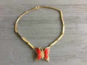 Metall Kette , vergoldet mit Schmetterling