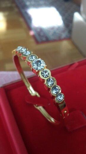 Armband goud Oranje-wit