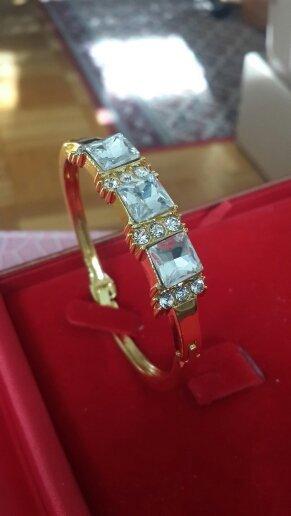 Armband wit-goud Oranje