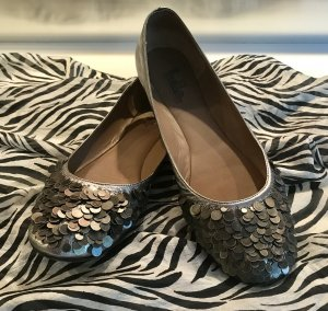 Belle by Sigerson Morrisson Ballerinas with Toecap light grey-silver-colored