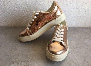 Metallic Bronze Sneaker