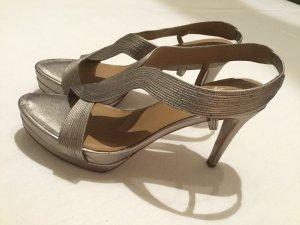 Elie Tahari Platform Sandals beige leather