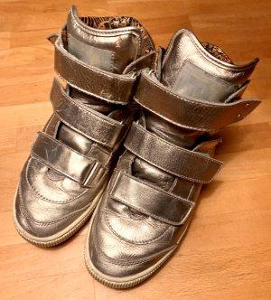 Diesel Sneaker alta bronzo-argento