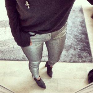 Metallic Jeans Hose zara