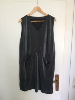 Cocktail Dress silver-colored-grey polyester