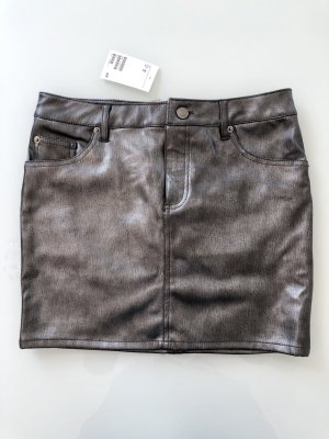 Metallic Leder-Rock H&M