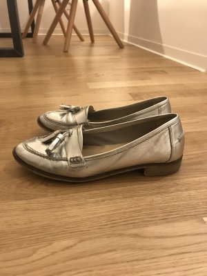 Metallic Loafers, Echtleder Gr. 38