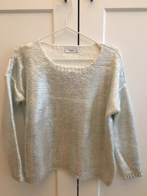 Metallic Look Pullover silber von Mango