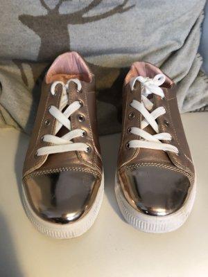 Metallic Look Sneakers in Rose Metallic der Trend 2017/18 Gr 37 wie neu