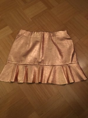 Zara Faux Leather Skirt bronze-colored
