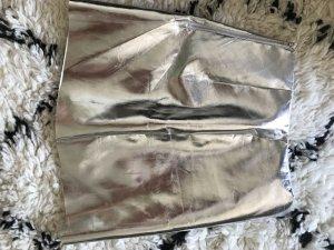 Metallic Minirock silbern