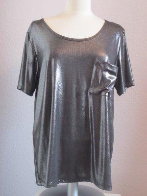 Metallic Oversize-Shirt