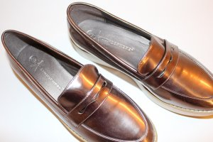 METALLIC PLATEAU LOAFER
