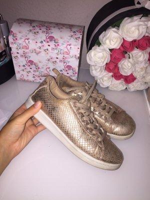 Metallic rose-gold Schuhe