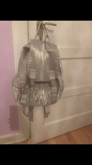 Asos Mochila escolar color plata