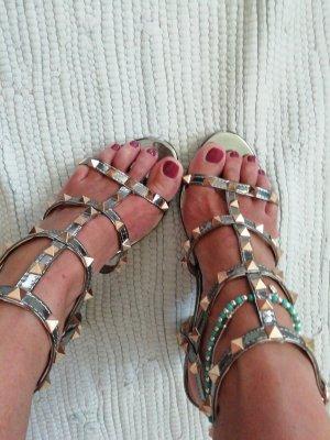 Metallic Sandaletten neu