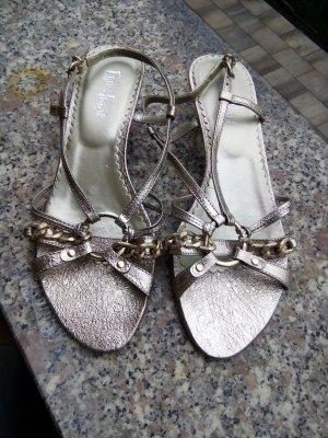 Metallic schimmernde Sandalen