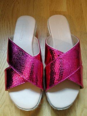 Metallic Sliders 39 Pink Asos Festival