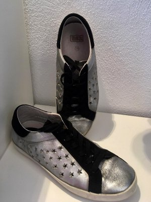 ASH Lace-Up Sneaker silver-colored-black leather