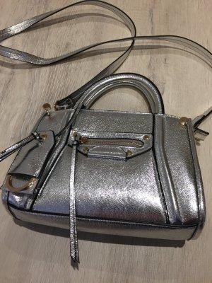 Metallic Tasche silberfarben Umhängegurt wie neu H&M