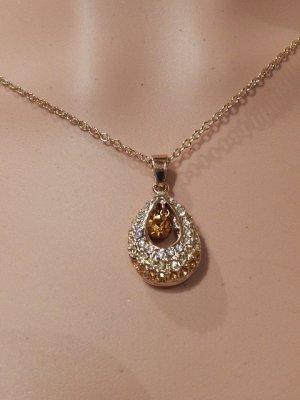 Metropolitan Halskette Swarovski® Kristalle 18K Gold plattiert - Neu