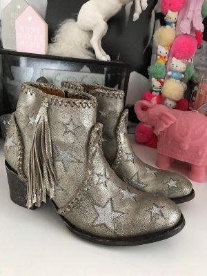Mexicana Boots Cowboy Stars Fransen Western gold 40
