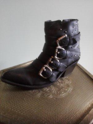 Mexikanische Cowboy-Fashion-Boots, Nero, Gr. 40